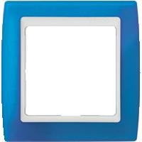 Рамка Simon 82 (синий полупрозрачный)