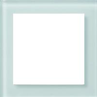 Рамка Aura Glass (белое матовое стекло)