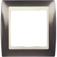 Рамка Simon 82 (серый гранит с бежевой вставкой)
