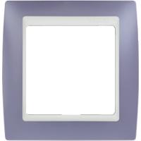 Рамка Simon 82 (сирень с белой вставкой)