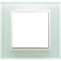Рамка B.7 Glass (белое стекло)