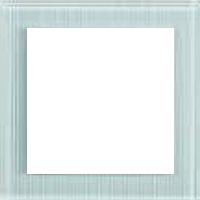 Рамка Aura Glass (рефленое белое матовое стекло)