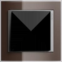 Рамка Event Clear (пластик прозрачный коричневый-алюминий)