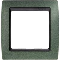 Рамка Simon 82 (зеленая текстура с черной вставкой)