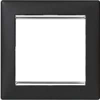 Рамка Valena (пластик ноктюрн/серебр.штрих)