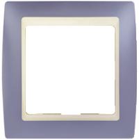 Рамка Simon 82 (сирень с бежевой вставкой)