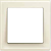 Рамка M-Smart (пластик кремовый глянцевый)