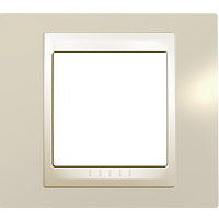 Рамка Unica Хамелеон (пластик кремовый глянцевый)