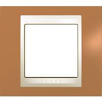 Рамка Unica Хамелеон (пластик оранжевый/бежевый)