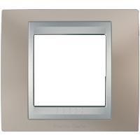 Рамка Unica TOP (металл никель/алюминий)
