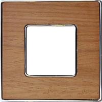 Рамка Vintage Wood (дуб/блестящий хром)
