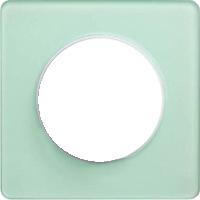 Рамка Odace (зеленый лед/белая)