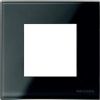 Рамка Niessen Zenit (черное стекло)