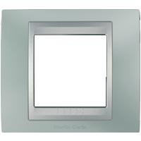Рамка Unica TOP (металл флюорит/алюминий)