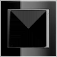 Рамка Event Clear (пластик прозрачный черный-алюминий)