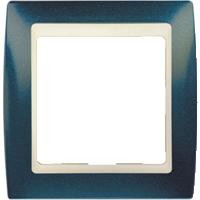 Рамка Simon 82 (синий металлик с бежевой вставкой)
