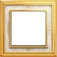 Рамка Dynasty (полированная латунь / белая роспись)