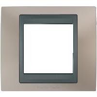 Рамка Unica TOP (металл никель/графит)