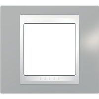 Рамка Unica Хамелеон (пластик серый/белый)