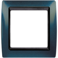 Рамка Simon 82 (синий металлик с черной вставкой)