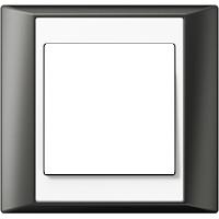 Рамка A Plus (пластик антрацит-белый)