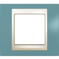 Рамка Unica Хамелеон (пластик синий/бежевый)