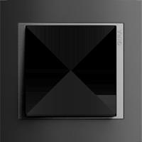 Рамка Event (пластик черный/алюминий)