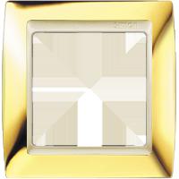 Рамка Simon 82 (золото с бежевой вставкой)