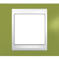 Рамка Unica Хамелеон (пластик фисташковый/белый)