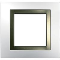 Рамка Unica (пластик белый/бронза)