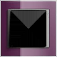 Рамка Event Clear (пластик прозрачный темно-фиолетовый-алюминий)