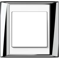 Рамка A Plus (пластик хром-белый)