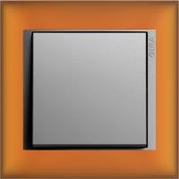 Рамка Event Opaque (пластик матово-янтарный/алюминий)
