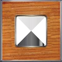 Рамка Vintage Wood (вишня/блестящий хром)