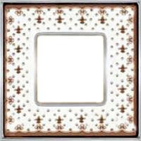 Рамка Vintage Porcelain (коричневая лилия/блестящий хром)