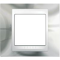Рамка Unica Хамелеон (серебро/белый)