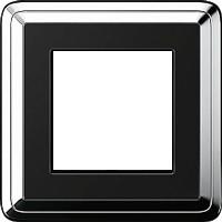 Рамка ClassiX (хром/черный)