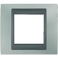 Рамка Unica TOP (металл флюорит/графит)