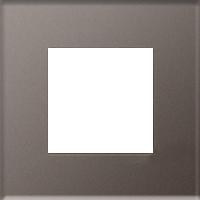 Рамка Niessen Zenit (кофейное стекло)