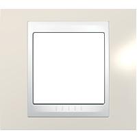Рамка Unica Хамелеон (пластик песчаный/белый)