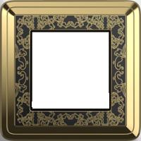 Рамка ClassiX Art (латунь/черный)