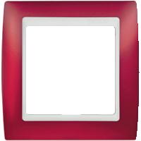 Рамка Simon 82 (красный полупрозрачный)