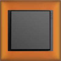 Рамка Event Opaque (пластик матово-янтарный/антрацит)