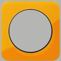Рамка R1 (акрил оранжевый/черный)