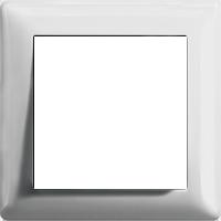 Рамка Standard 55 (пластик белый матовый)