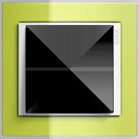 Рамка Event Clear (пластик прозрачный зеленый-глянц.белый)