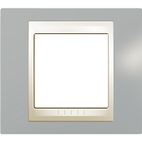 Рамка Unica Хамелеон (пластик серый/бежевый)