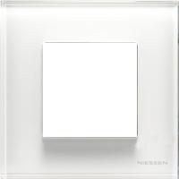 Рамка Niessen Zenit (белое стекло)