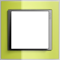 Рамка Event Clear (пластик прозрачный зеленый-алюминий)
