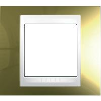Рамка Unica Хамелеон (золото/белый)